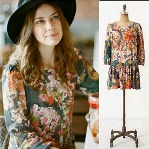 Anthropologie Meadow Rue Floral Dress Sz. S (AP4)